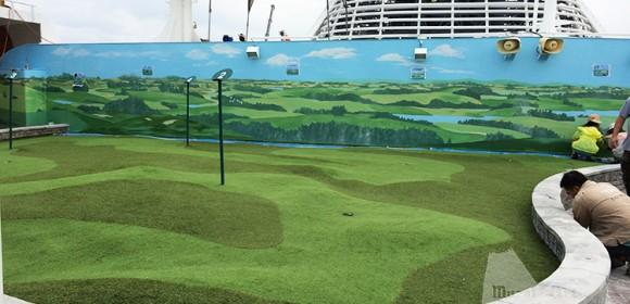 Golf link on Princess Diamond Ship