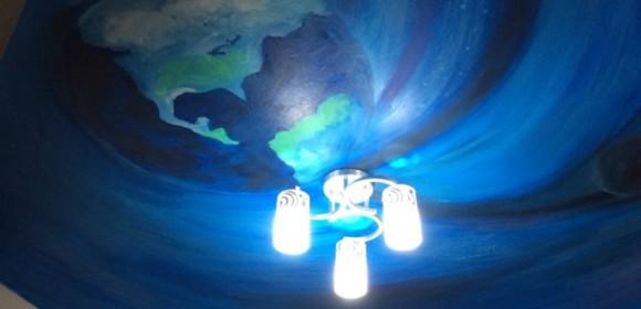 luminous painting-galaxy boy's room painting