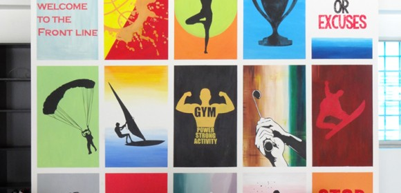 Gym club painting