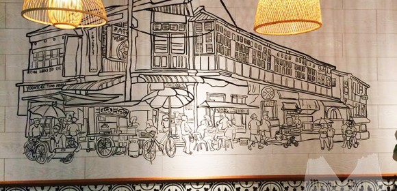 Sketch of Penang street