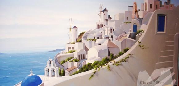 Santorini 3d residential painting