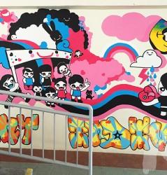 Pop Art mural for school