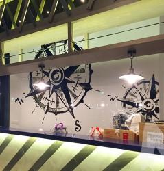Compass Mural