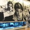 Teddy boy mural for HK restaurant